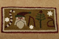 SANTA Punch Needle Pattern