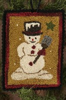 12 Days of Snowmen - February - Punch Needle Pattern<br>Buttermilk Basin