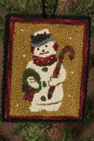 12 Days of Snowmen - March - Punch Needle Pattern<br>Buttermilk Basin