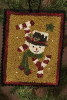 12 Days of Snowmen - April - Punch Needle Pattern