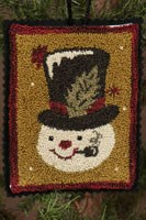 12 Days of Snowmen - June - Punch Needle Pattern