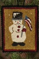 12 Days of Snowmen - August - Punch Needle Pattern