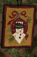 12 Days of Snowmen - October - Punch Needle Pattern