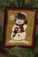 12 Days of Snowmen - December - Punch Needle Pattern
