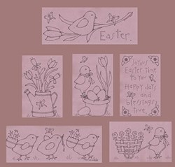Joyous Easter Stitchery Collection<br>Buttermilk Basin