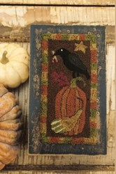 Fall Crow with Pumpkin Punch Needle Pattern