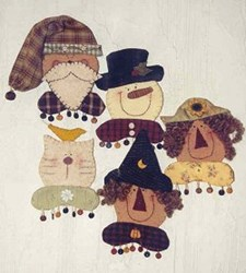Happy Faces Pins/Ornaments Pattern <br>by Cranberry Junction