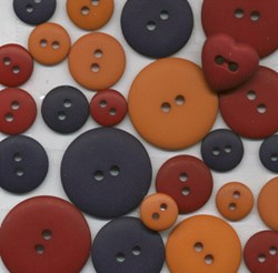 Itsy Bitsy Antique Americana Folk Art Buttons <br>Hand Dyed by Theresa