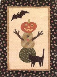 Pumpkin Man Wall Hanging Quilt Pattern<br>by Jan Patek Quilts