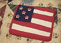 Last One! Vintage Find!  5 Star Flag Sewing Kit <br>by Kansas Troulbes Quilters