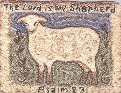 Psalms Lamb Needlepunch Pattern<br> by NLP Designs