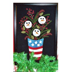 Patriotic Snowman Bucket Pattern by Liberty Rose