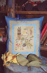 August - Month by Monty Stitcheries by Liberty Gardens