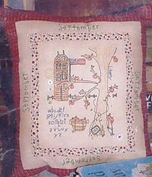 September - Month by Monty Stitcheries by Liberty Gardens