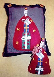 Prim Santa Pillow & Doll Pattern by Liberty Gardens
