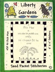 Vintage Find!  Rich Man Seed Packet Pattern by Liberty Gardens