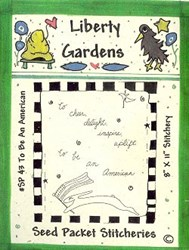 To Be An American Seed Packet Stitchery Pattern by Liberty Gardens