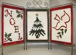 Holiday Trio Wool Applique Pattern by Lily Anna Stitches