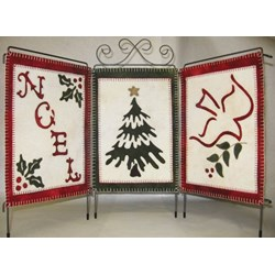 Holiday Trio Wool Applique Kit by Lily Anna Stitches
