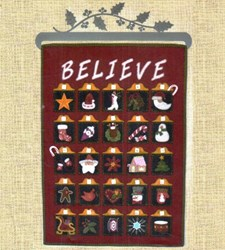 Holiday Traditions Advent Calender Applique Pattern by Lily Anna Stitches