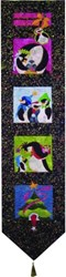 Penguin Charm Wallhanging Quilt Pattern<br>Mount ReDoubt Designs