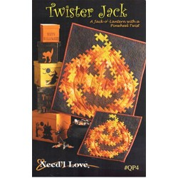 Twister Jack Wall Quilt Pattern by Need'l Love