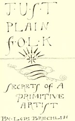 Just Plain Folk Pattern Booklet by Not Forgotten Farms