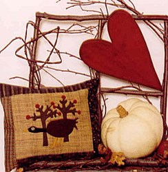Wool Applique Pattern - September - by Sandy Gervais of Pieces From My Heart