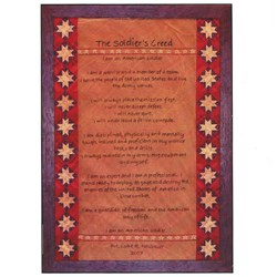 Soldier's Creed Wall Hanging Pattern by Primitive Gatherings