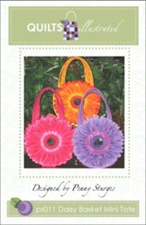 Daisy Basket Mini Tote Pattern-by Penny Sturges <br> QuiltsIllustrated.com