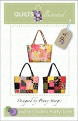Charm Party Tote Pattern-by Penny Sturges <br> QuiltsIllustrated.com