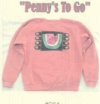 Penny's To Go Pattern - Watermelon<br>by Raggedy Junction