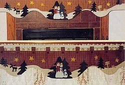Vintage Find!  Winter Days Mantel Quilt & Window Valance Pattern <br>by Robb-N-Graves