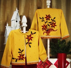 Christmas Blooms Applique Jacket Starter Kit