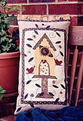 Vintage Find!  Sunflower  Birdhouse Pillow <br>Serendipity