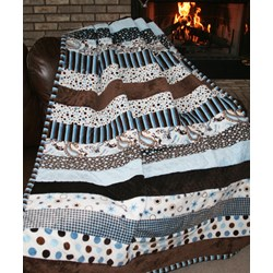 Study Hall Snuggler Minky Quilt Pattern Download