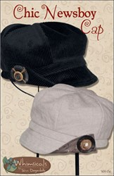 Chic Newsboy Cap by Terri Degenkolb by Whimsicals