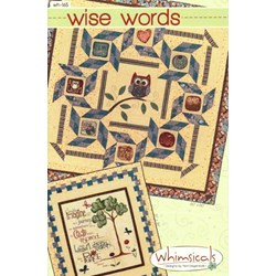 Wise Words Quilt Pattern by Terri Degenkolb by Whimsicals