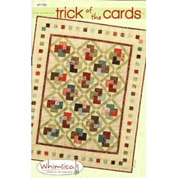 Trick of the Cards Quilt Pattern by Terri Degenkolb by Whimsicals