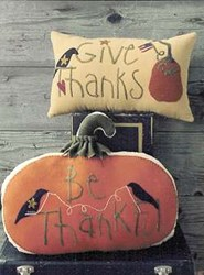 Give Thanks Pillow Pattern<br>Wooden Spool Designs