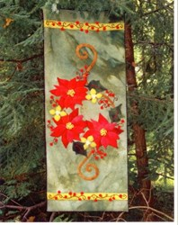 Poinsettia & Winterberries Wool Runner Applique Kit