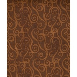 Essentials Swirly Scroll - Chocolate Brown - 39081-229 Wilmington Prints