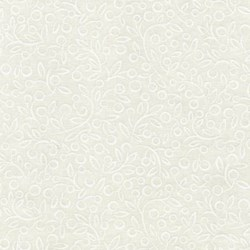"End of Bolt - 47"" -Ramblings - White on White Berry by P&B Textiles"