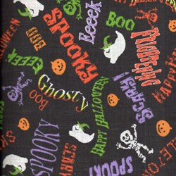 Holiday Prints - Halloween Spooky Graffiti in Black - by AE Nathan Co