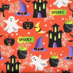 Holiday Prints - Halloween Night on Orange - by AE Nathan Co