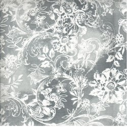 Hawaiian Prints - Grey Floral Print - by AE Nathan