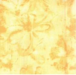 "18"" Remnant (2 piece - 1@ 12"" x 43"" & 1@ 6"" x 42"") Hawaiian Prints - Yellow Tonal Floral - by AE Nathan"