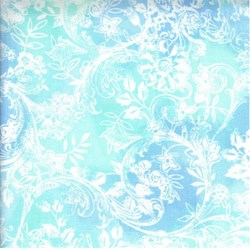 "13"" Remnant - Hawaiian Prints - Blue/Green Floral Print - by AE Nathan"