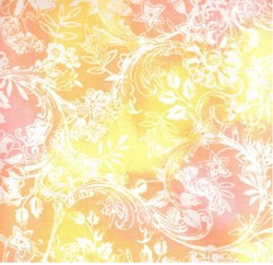 "15"" Remnant- Hawaiian Prints - Yellow/Pink Floral Print - by AE Nathan"