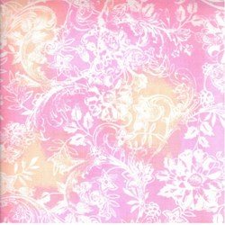 "12"" Remnant - Hawaiian Prints - Pink/Orange Floral Print - by AE Nathan"